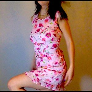 Karl lagerfeld flower pattern dress